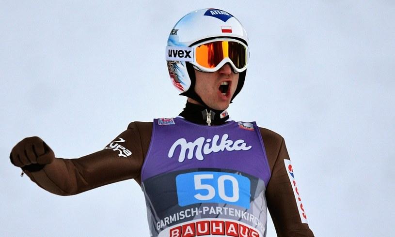 Kamil Stoch oddał fenomenalne skoki w Garmisch-Partenkirchen /CHRISTIAN BRUNA /PAP/EPA