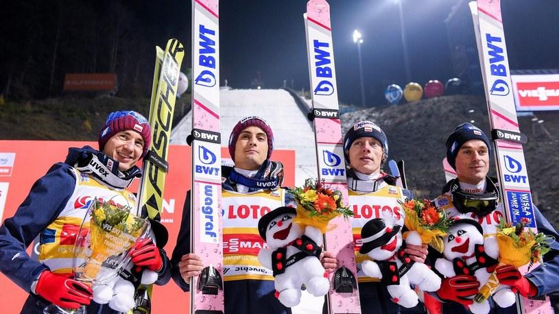 Kamil Stoch, Piotr Żyla, Dawid Kubacki i Maciej Kot /Newspix