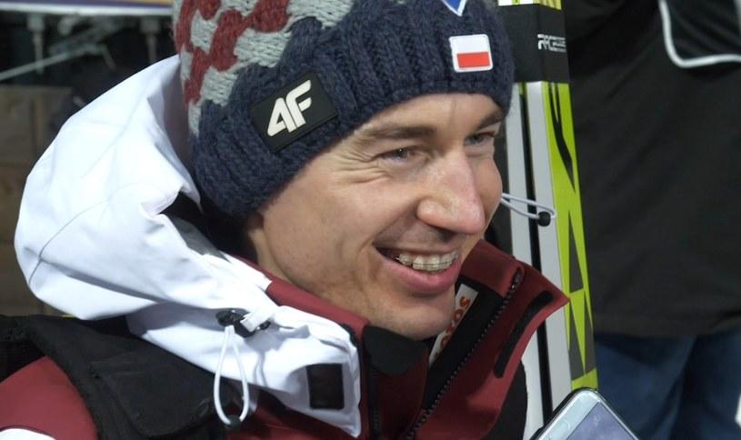 Kamil Stoch po kwalifikacjach w Zakopanem /Michał Białoński /INTERIA.PL