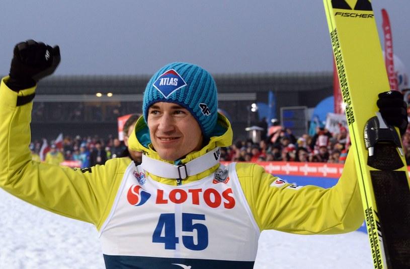 Kamil Stoch po styczniowym zwycięstwie w Zakopanem /AFP