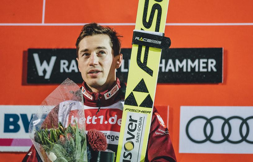 Kamil Stoch po triumfie w Lillehammer na koniec sezonu /Newspix
