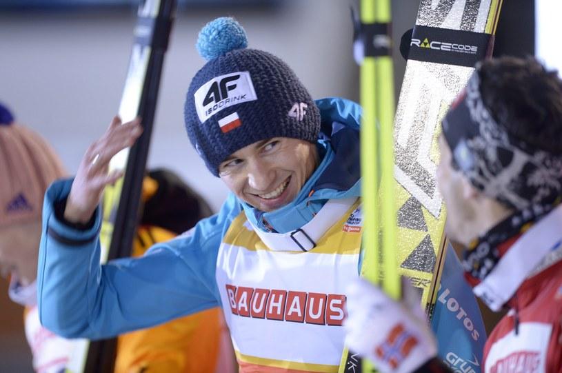 Kamil Stoch po zwycięstwie w Kuopio /AFP