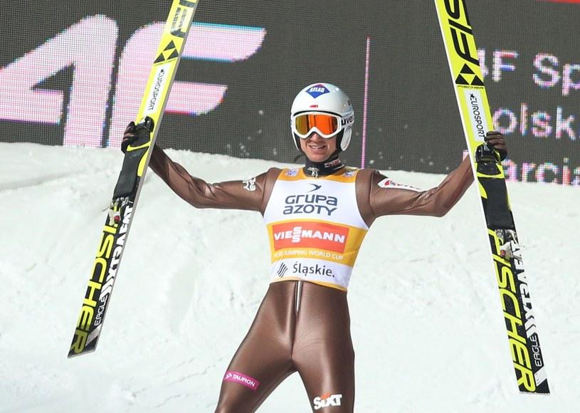 Kamil Stoch po zwycięstwie w Wiśle w styczniu tego roku /AFP