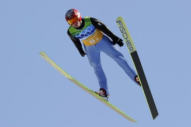 Kamil Stoch podczas konkursu skoków narciarskich na IO w Vancouver /AFP