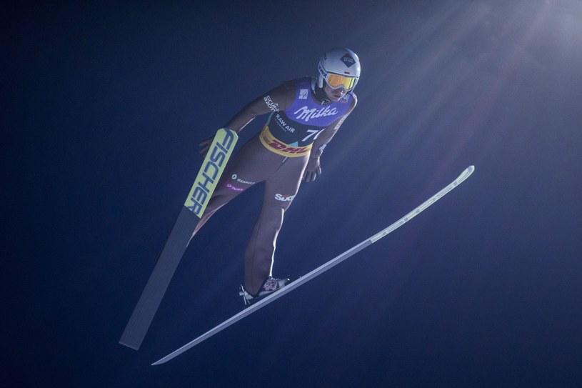 Kamil Stoch podczas kwalifikacji w Lillehammer /PAP/EPA