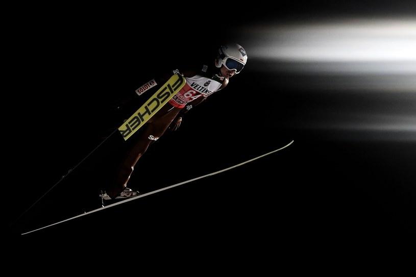Kamil Stoch podczas kwalifikacji w Oberstdorfie /CHRISTIAN BRUNA /PAP/EPA