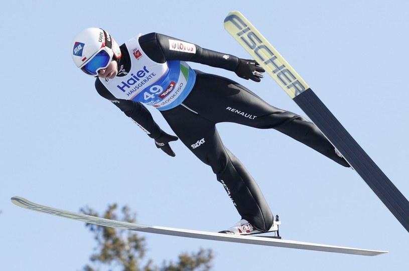 Kamil Stoch podczas pierwszej serii konkursu indywidualnego mistrzostw świata / Grzegorz Momot    /PAP