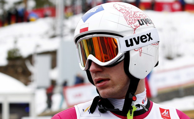 Kamil Stoch podczas treningu w Falun /Grzegorz Momot /PAP