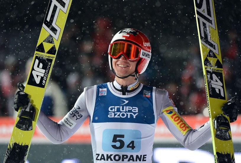 Kamil Stoch podczas ubiegłorocznych zawodów w Zakopanem /AFP