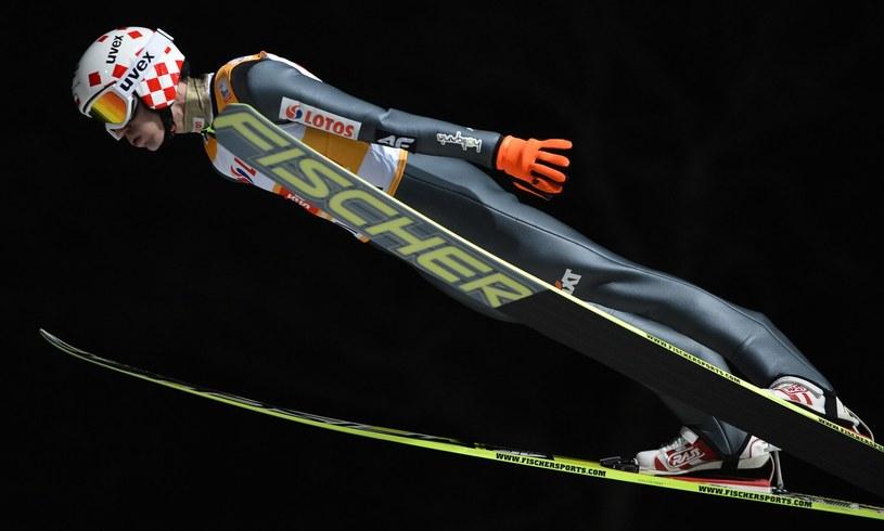 Kamil Stoch podczas zawodów Pucharu Świata w Wiśle /AFP