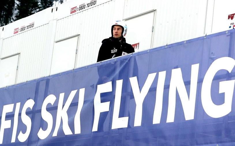 Kamil Stoch przed kwalifikacjami do mistrzostw świata w lotach narciarskich w Oberstdorfie / Grzegorz Momot    /PAP