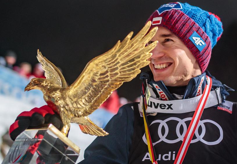 Kamil Stoch - triumfator Turnieju Czterech Skoczni w sezonie 2017/2018 /EXPA    /Newspix