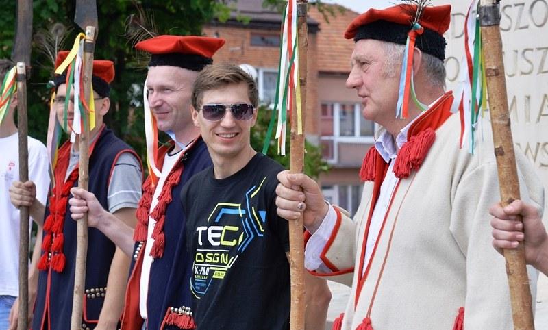 Kamil Stoch w Proszowicach /Jacek Bednarczyk /PAP