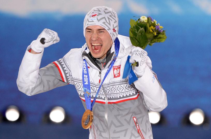 Kamil Stoch w Soczi zdobył dwa złote medale. Jak będzie w Pjongczangu? /AFP