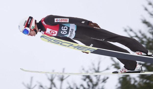 Kamil Stoch w Vikersund zaprezentował się poniżej swoich możliwości /Terje Bendiksby /PAP