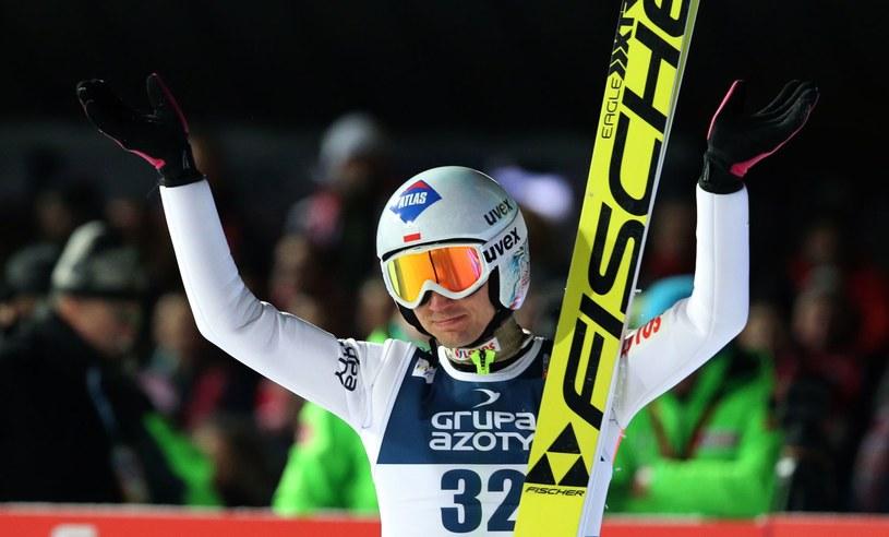 Kamil Stoch we Francji zajął drugie miejsce. Lepszy był tylko Maciej Kot /AFP