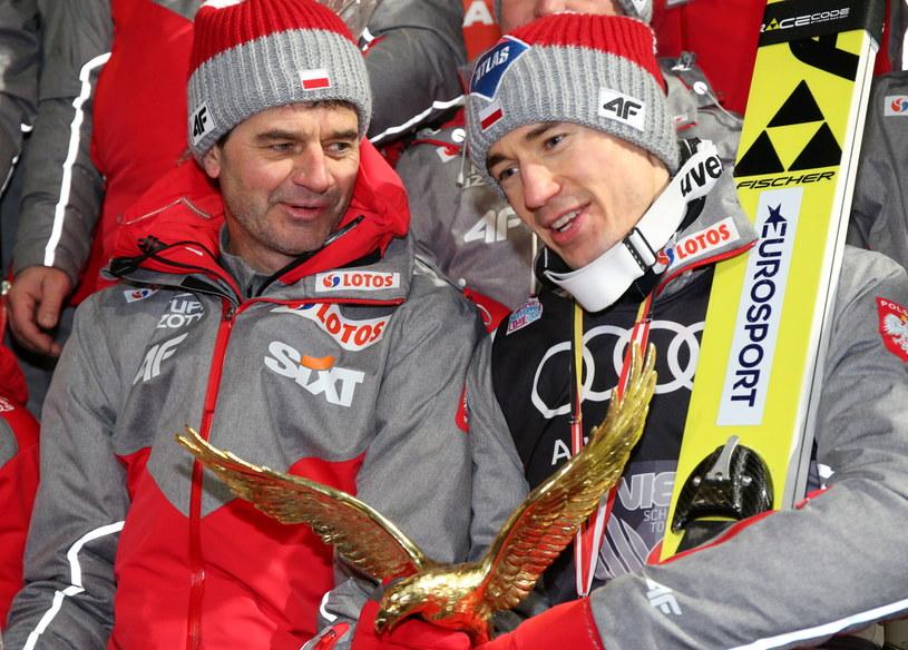 Kamil Stoch (z prawej) i Stefan Horngacher /Grzegorz Momot /PAP