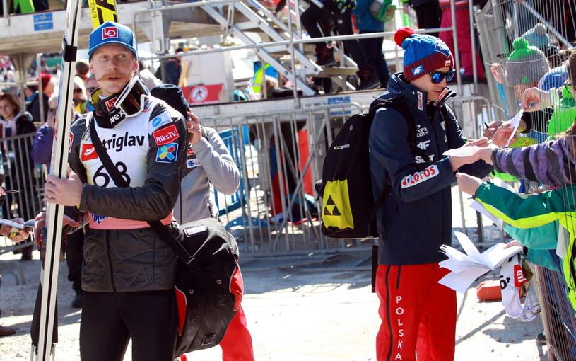 Kamil Stoch (z prawej), Robert Johansson (z lewej) / Grzegorz Momot    /PAP