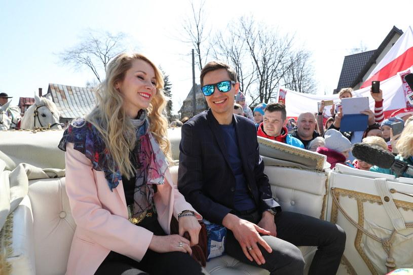 Kamil Stoch z żoną Ewą Bilan-Stoch / Grzegorz Momot    /PAP