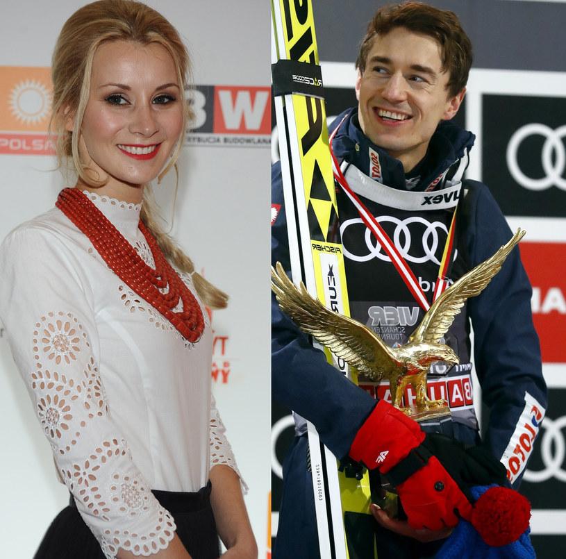 Kamil Stoch z żoną Ewą /MWMedia