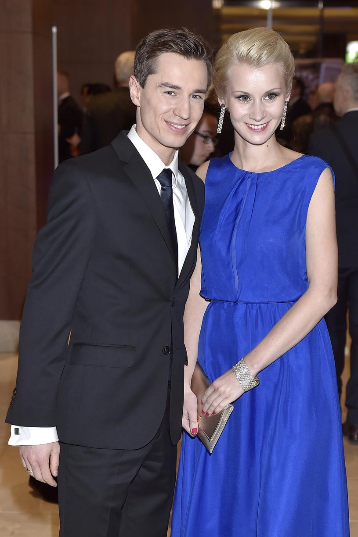 Kamil Stoch z żoną Ewą /Kurnikowski /AKPA