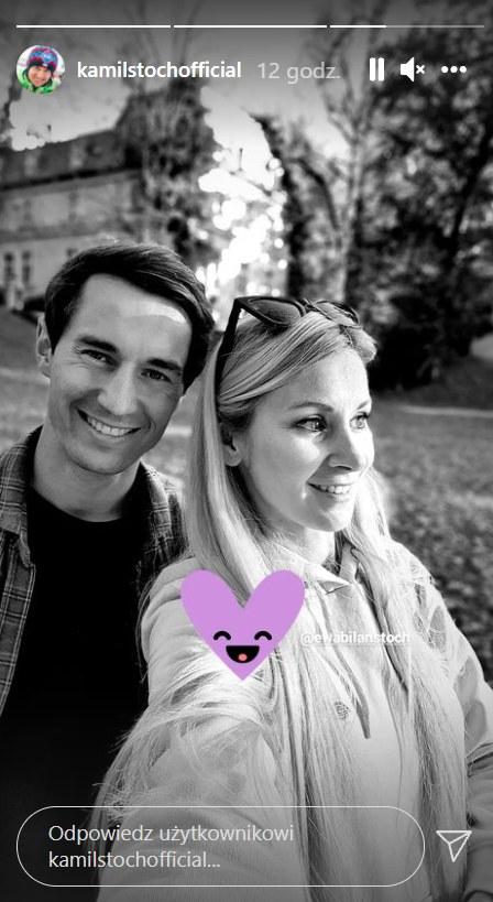Kamil Stoch z żoną    /https://www.instagram.com/kamilstochofficial/ /Instagram