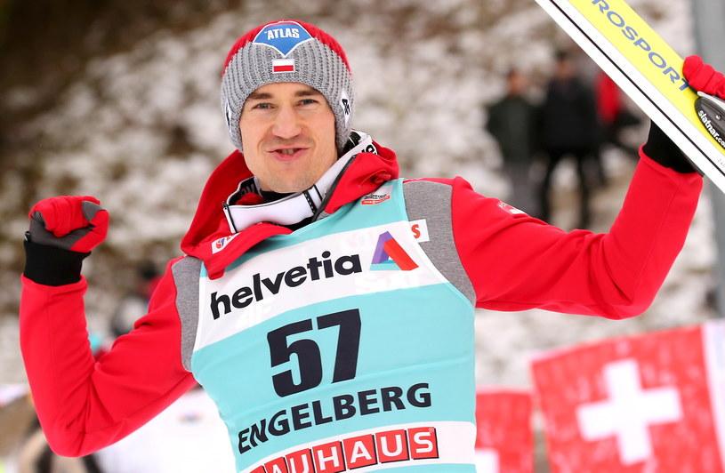 Kamil Stoch zajął drugie miejsce w Engelbergu /fot. Grzegorz Momot /PAP