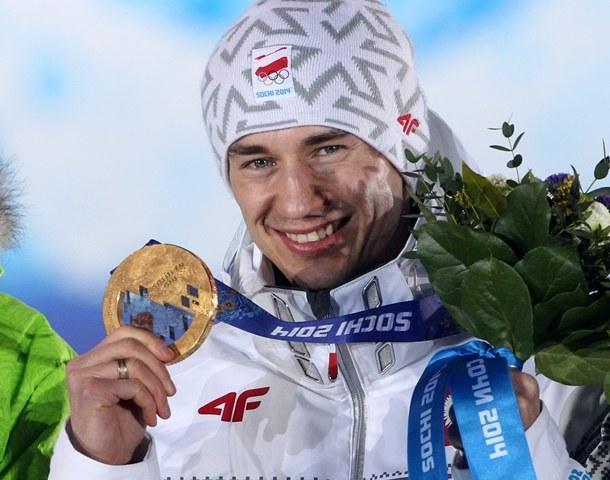 Kamil Stoch zdobył już dwa złote medale w Soczi /Grzegorz Momot /PAP