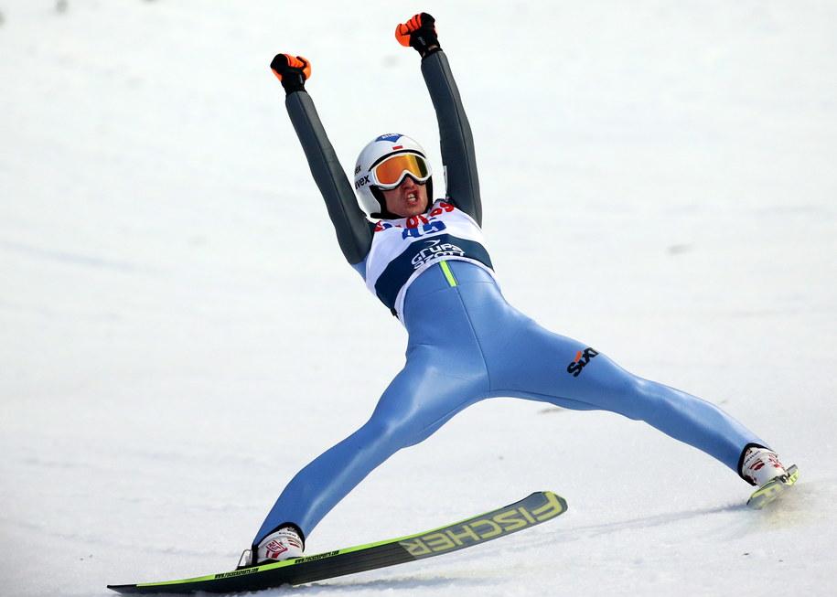Kamil Stoch zwyciężył w konkursie Pucharu Świata w skokach narciarskich na Wielkiej Krokwi w Zakopanem /Grzegorz Momot /PAP
