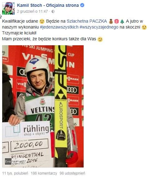 Kamil Stoch /PUSTE /