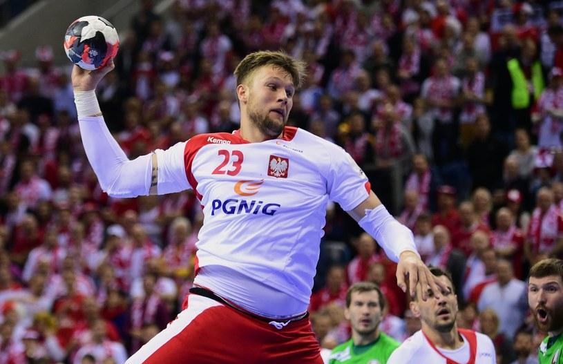 Kamil Syprzak, obrotowy reprezentacji Polski /Attila Kisbenedek /AFP