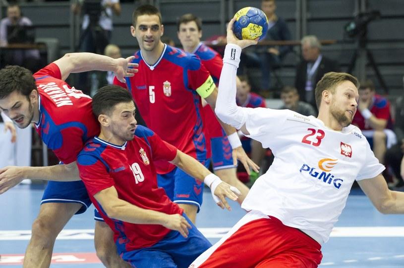 Kamil Syprzak w meczu z Serbią /Wojciech Stróżyk /East News