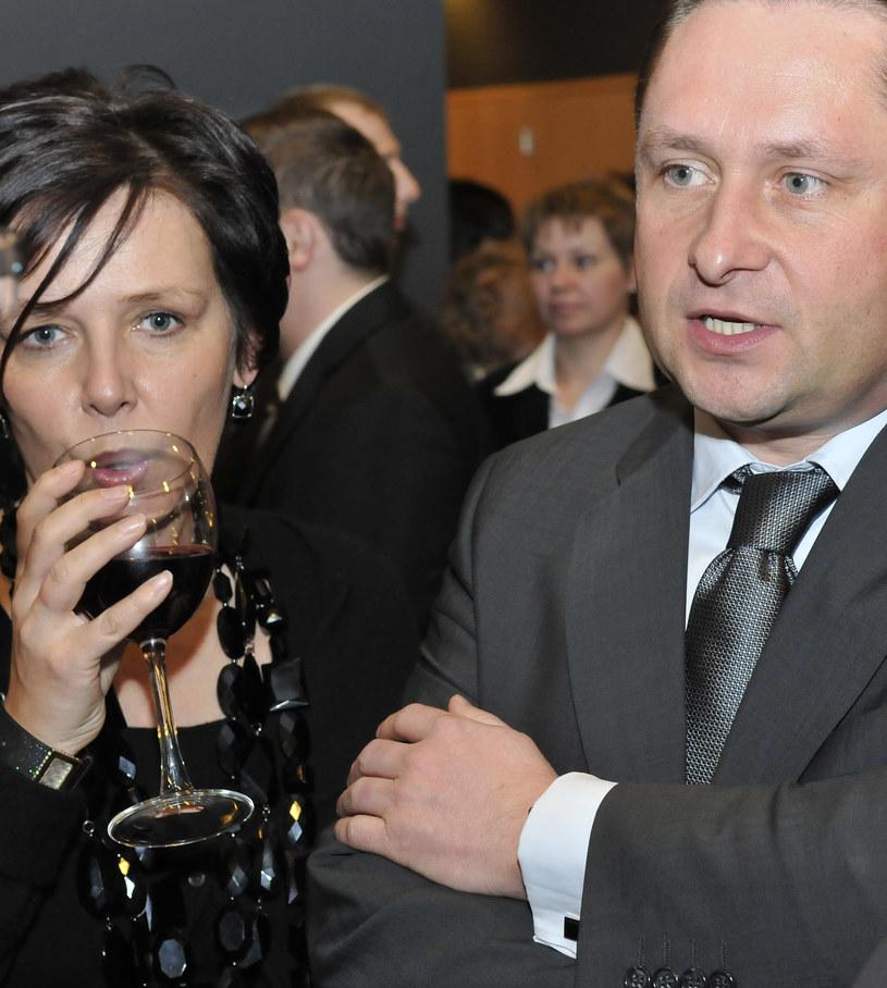 Kamil z żoną /Jodłowski  /Agencja FORUM