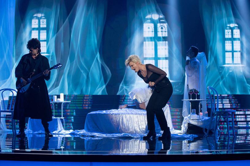 Kamila Boruta jako Marie Fredriksson z Roxette /M. Zawada /Polsat