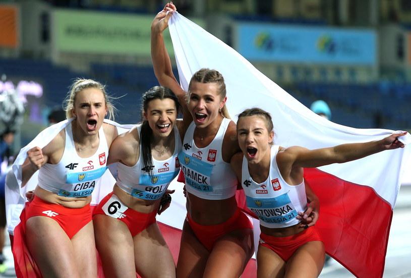 Kamila Ciba, Marlena Gola, Klaudia Adamek i Paulina Guzowska /Andrzej Grygiel /PAP