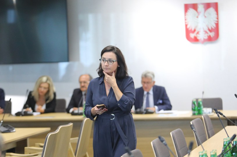 Kamila Gasiuk-Pichowicz podczas wtorkowej komisji sprawiedliwości i praw człowieka /Tomasz Jastrzebowski/REPORTER /East News