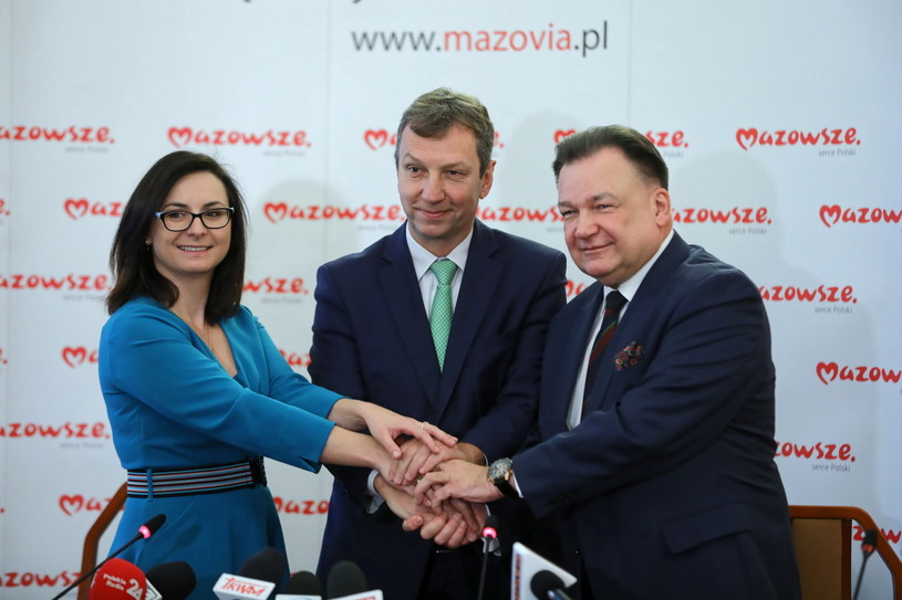 Kamila Gasiuk-Pihowicz, Andrzej Halicki i Adam Struzik /Rafał Guz /PAP
