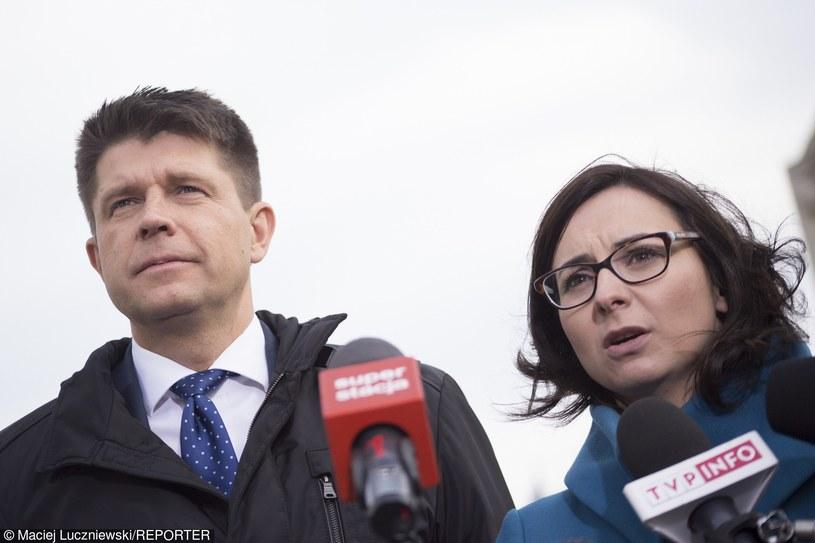 Kamila Gasiuk- Pihowicz i Ryszard Petru /Maciej Łuczniewski /Reporter