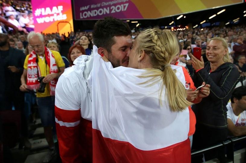 Kamila Lićwinko i jej mąż Michał /AFP
