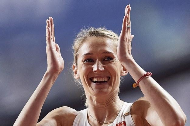 Kamila Lićwinko  podczas lekkoatletycznych mistrzostw świata w Dausze / Adam Warżawa    /PAP