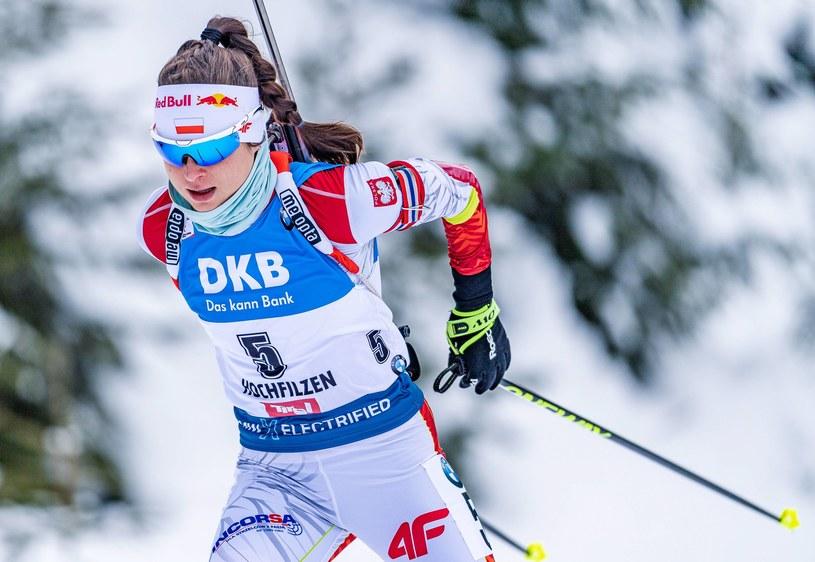 Kamila Żuk podczas zawodów Pucharu Świata w austriackim Hochfilzen /Newspix