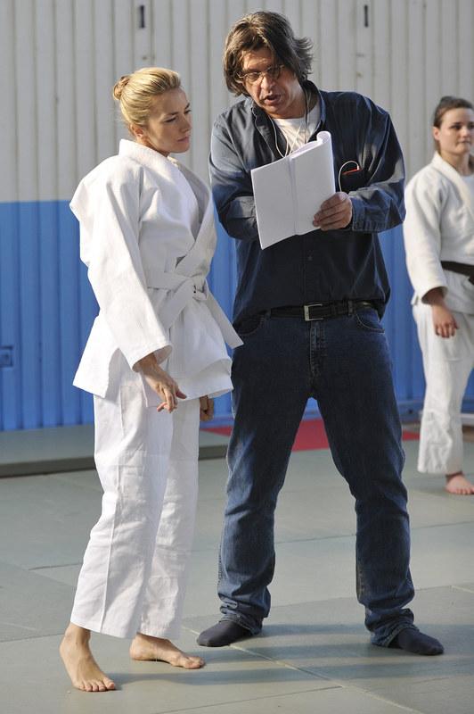 Kamilla Baar i reżyser Maciej Dutkiewicz /Niemiec /AKPA