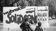 Kampania wyborcza przed wyborami parlamentarnymi 4 czerwca - plakaty wyborcze zachęcające do głosowania na kandydatów na posłów i senatorów z listy Komitetu Obywatelskiego przy Przewodniczącym NSZZ Solidarność.