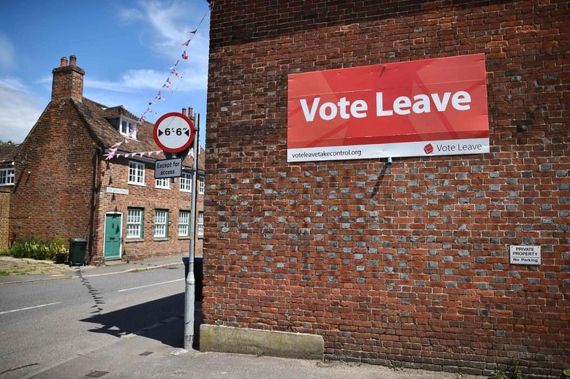 Kampania za wyjściem Wielkiej Brytanii z UE /BEN STANSALL /AFP