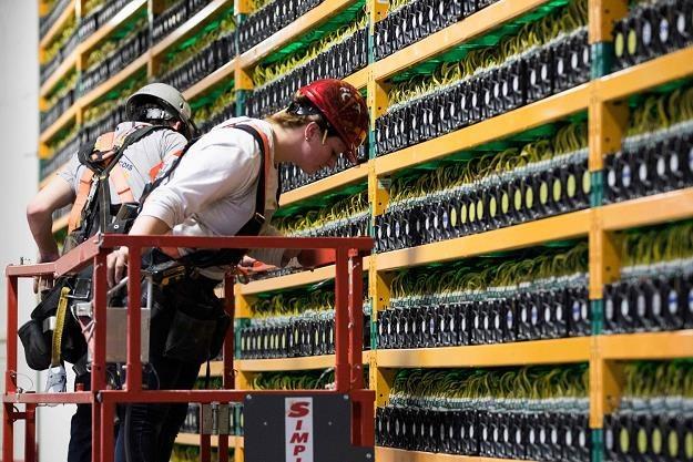 """Kanada. """"Kopalnia"""" bitcoina wykorzystująca technologię blockchain /AFP"""