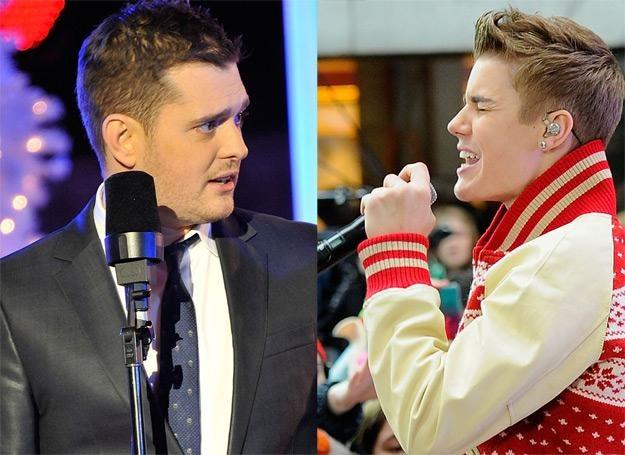 Kanadyjski pojedynek świąteczny: Michael Bublé kontra Justin Bieber /Getty Images/Flash Press Media