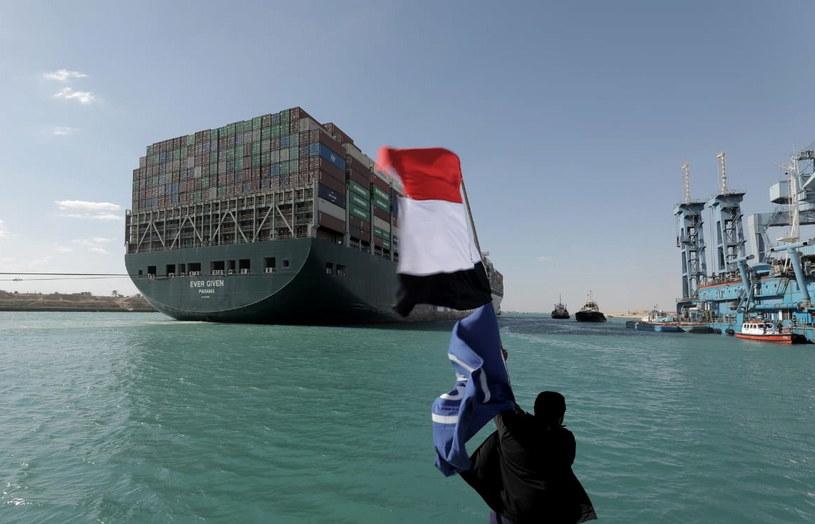 Kanał Sueski odblokowany. Pomogła pełnia księżyca /SUEZ CANAL AUTHORITY /PAP/EPA