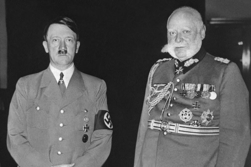 Kanclerz Adolf Hitler i prezydent Rzeszy Paul von Hindenburg /FRANCE PRESSE VOIR /AFP