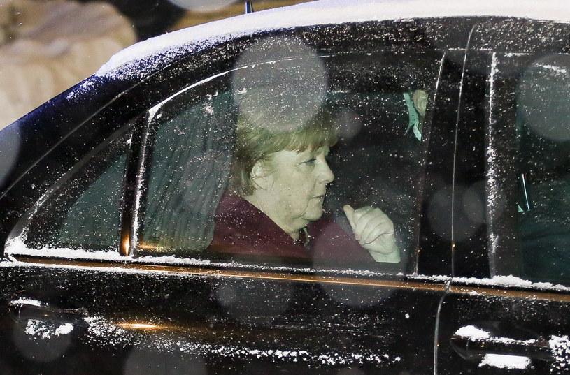 Kanclerz Angela Merkel w Warszawie /Paweł Supernak /PAP