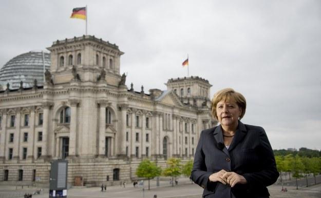 Kanclerz Merkel pod Budnestagiem /AFP